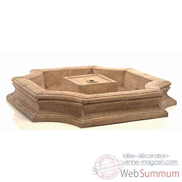Fontaine-Modele Bath Fountain Basin, surface pierre romaine-bs3192ros