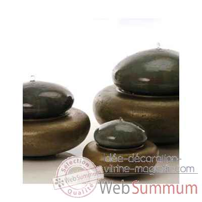 Fontaine-Modele Heian Fountain large, surface bronze avec vert-de-gris-bs3366vb