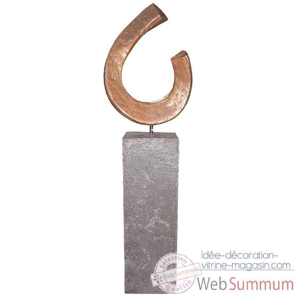 Sculpture-Modele Apoy Garden Sculpture, surface aluminium-bs3411alu/alabnp