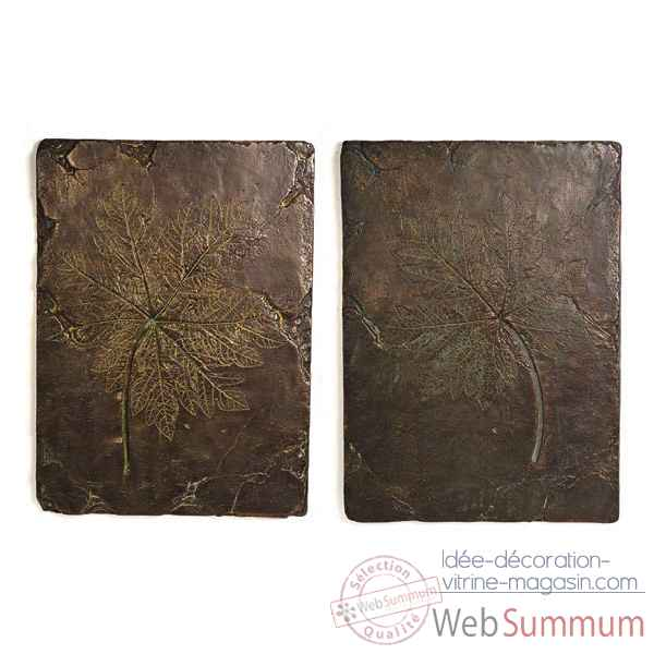 Decoration murale-Modele Papaya Wall Plaques, surface bronze nouveau-bs4089nb