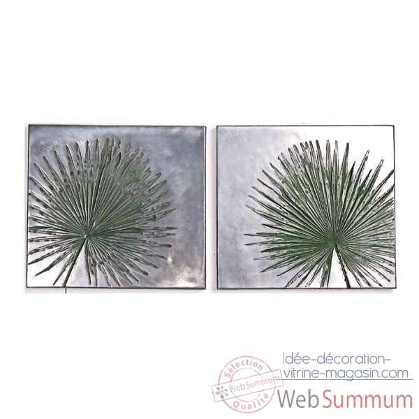 Decoration murale-Modele Anahaw Junior Wall Plaque Negative Set, surface aluminium-bs4095alu