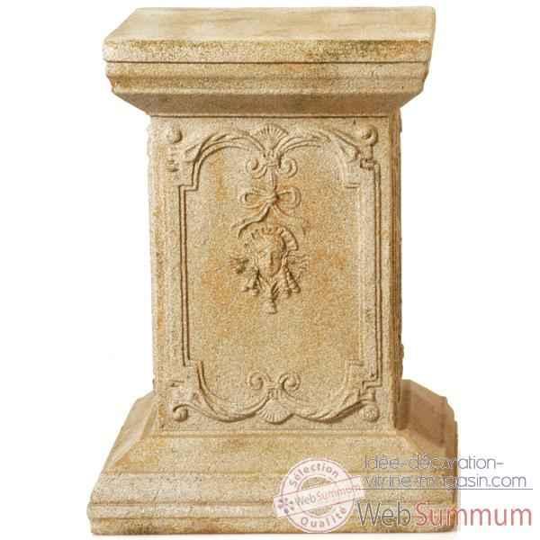 Colonne et piedestal queen anne podest pierre romaine for Decoration romaine