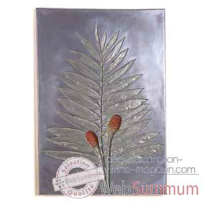 Décoration murale Torch Ginger Negative Wall Plaque, aluminium -bs2309alu