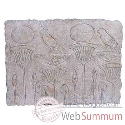 Decoration murale Papyrus Wall Plaque, granite -bs2311gry