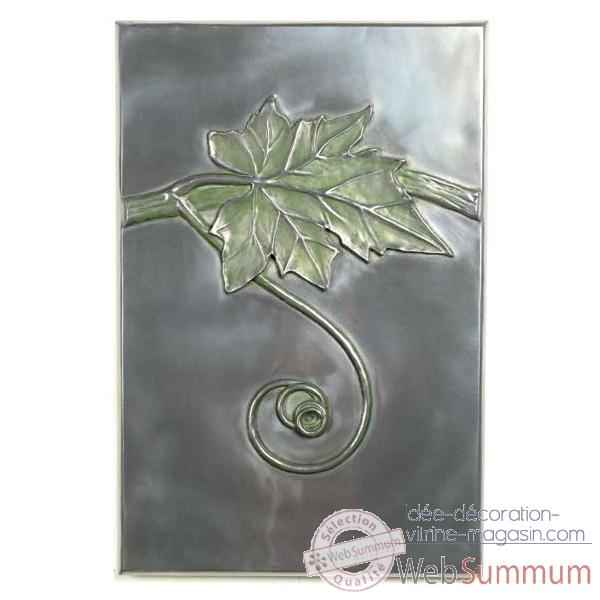Decoration murale Grape Vine Wall Plaque, aluminium -bs2314alu