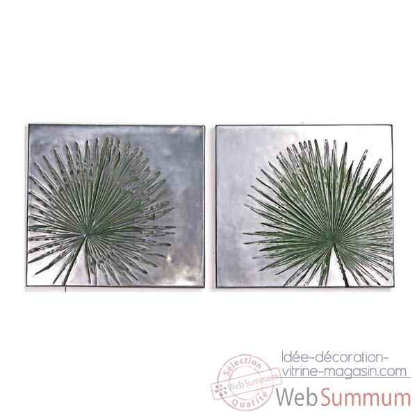 Decoration murale Anahaw Junior Wall Plaque Negative Set, aluminium -bs4095alu