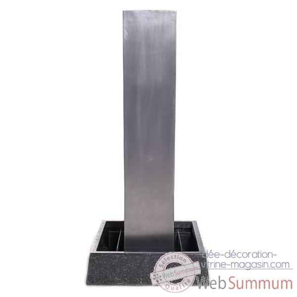 Video Fontaine Tower Fountain Square Basin, seulement bassin, aluminium -bs3129alu -basin