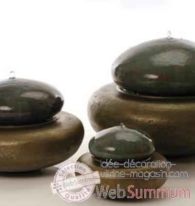 Fontaine Heian Fountain medium, granite et bronze -bs3365gry -vb