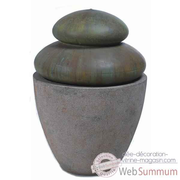 Fontaine Hao Fountain, granite et bronze -bs3501gry -vb