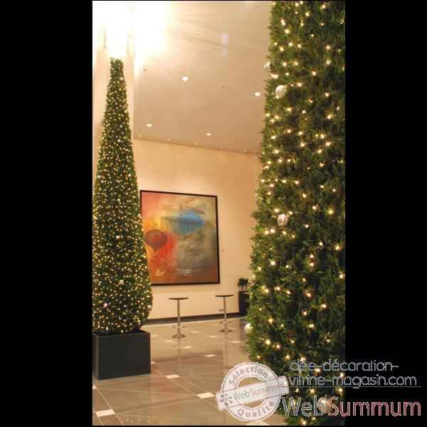 Thuya pyramide 210 cm professionnel 300 lampes de berdeco for Sapin artificiel professionnel
