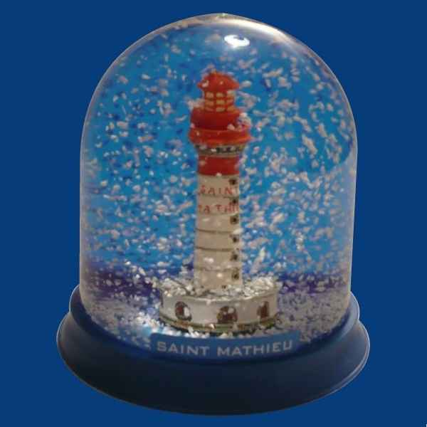 Boule neige Phare Saint-Mathieu -BN007