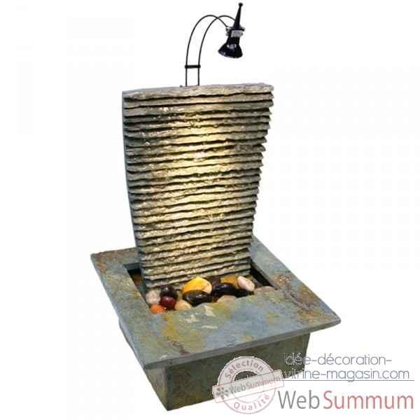 Fontaine d 39 int rieur lumi re 3954 incluse cactose dans for Interieur lumiere