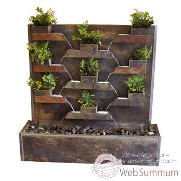 Fontaine ext rieur int rieur cactose 10372lex dans mur d for Decoration fontaine exterieur