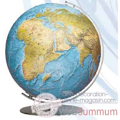 Globe lumineux colombus diam 34 collection classic duorama relief co213481f