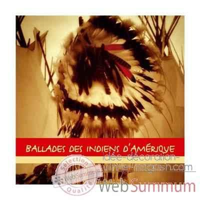 cd ballades des indiens d 39 am rique vox terrae 17109270 de vitrine marine. Black Bedroom Furniture Sets. Home Design Ideas