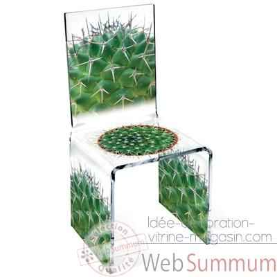 Chaise Aqua Single Cactus design Samy, Aitali