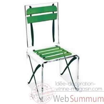 Chaise Aqua Single Terrasse Verte design Samy, Aitali