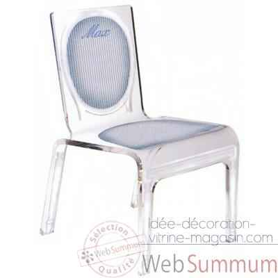 Chaise personnalisable Baby Lines Bleue Aitali