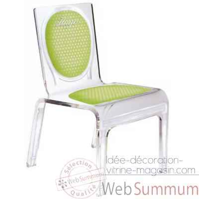 Chaise personnalisable Baby Polka Verte Aitali
