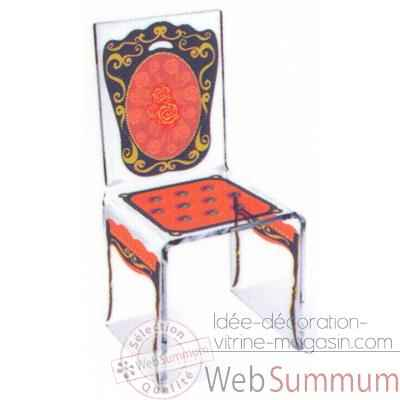 Chaise Aqua Napo Orange design Samy, Aitali