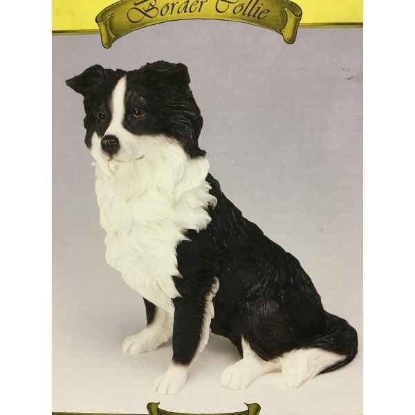 Chien Border collie assis LP2741