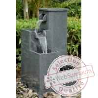 Fontaine hermes en pierre granit finition polie, de coloris gris Climadream