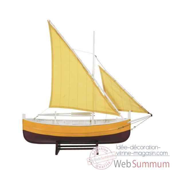 Bateau de peche du golfe, jaune Decoration Marine AMF AS089
