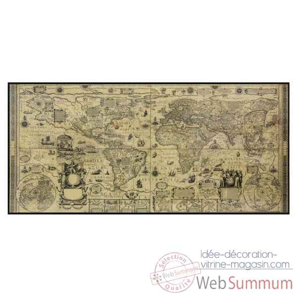 Carte murale monde antique Decoration Marine AMF -MC819