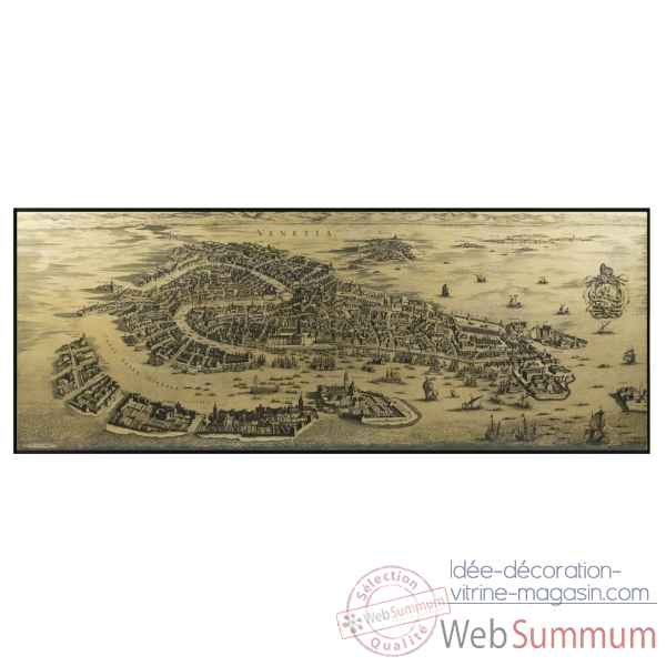 Carte murale venise 1694 Decoration Marine AMF -MC820