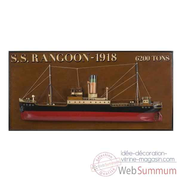Demi-coque s.s. rangoon 1918 Decoration Marine AMF -AS300