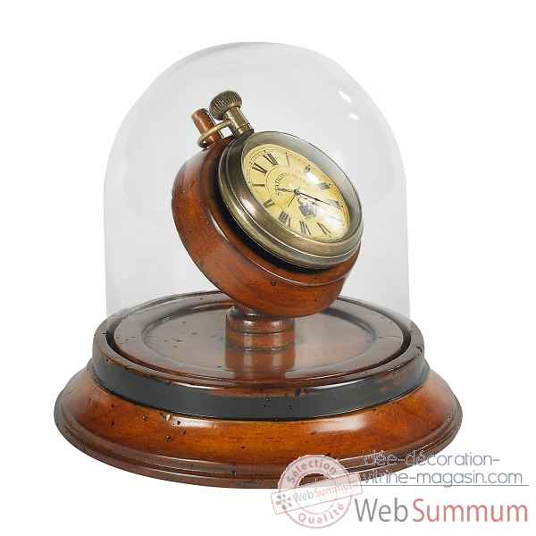 Montre de gousset sur socle decoration marine amf sc054