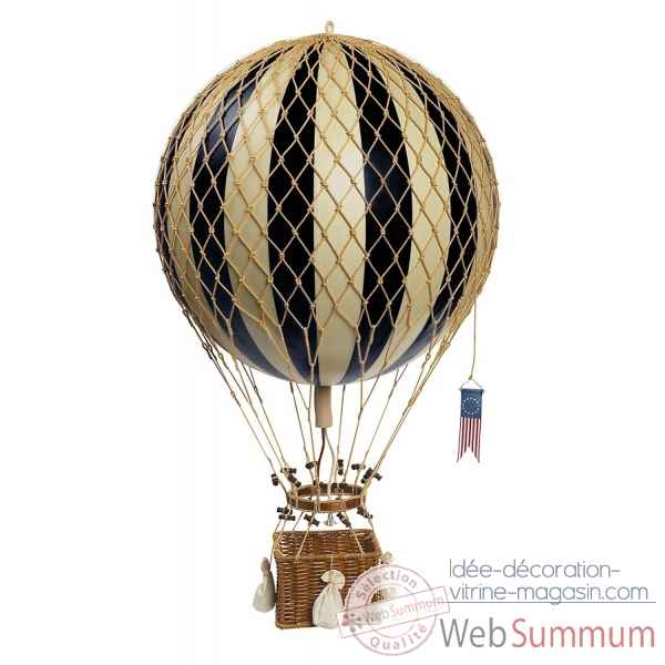 Royal aero, replique Montgolfiere Ballon 32cm noir Decoration Marine AMF -AP163K