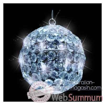 boule cristal d25 led blanc 40l 371487 de edelman dans boules de noel. Black Bedroom Furniture Sets. Home Design Ideas