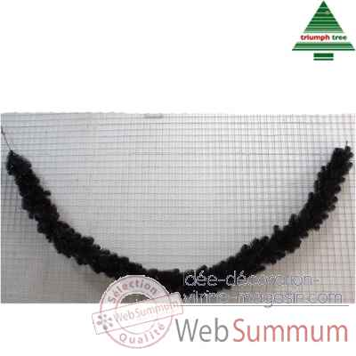 Guirlande baltimore shiny blackl270d30 brillant noir tips 210 -387025