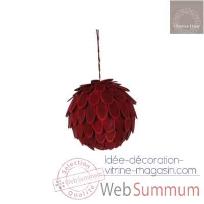 Ornement boule d15 rouge -105287