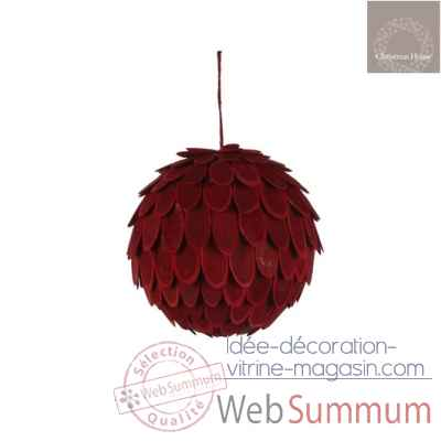 Ornement boule d20 rouge -105286