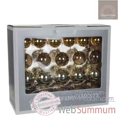S42 boule l39l17h32 verre or or cl. or f. transparent -165956