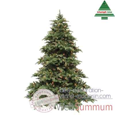 sapin de noel led delux abies nordmann h215d155 vert 400l tips 2651. Black Bedroom Furniture Sets. Home Design Ideas