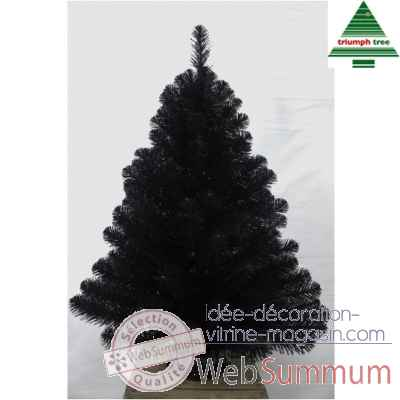 Sapin d.noel a. toile de jutebaltimore shiny black h90d66 brillant noir tips 106 -NF -387028