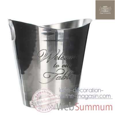 Seau a glace welcome to our tablealumin. h25d24 brillant -230628