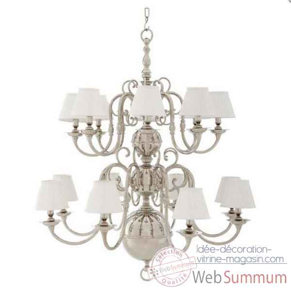 Eichholtz chandelier la coupole nickel - blanc -lig05793