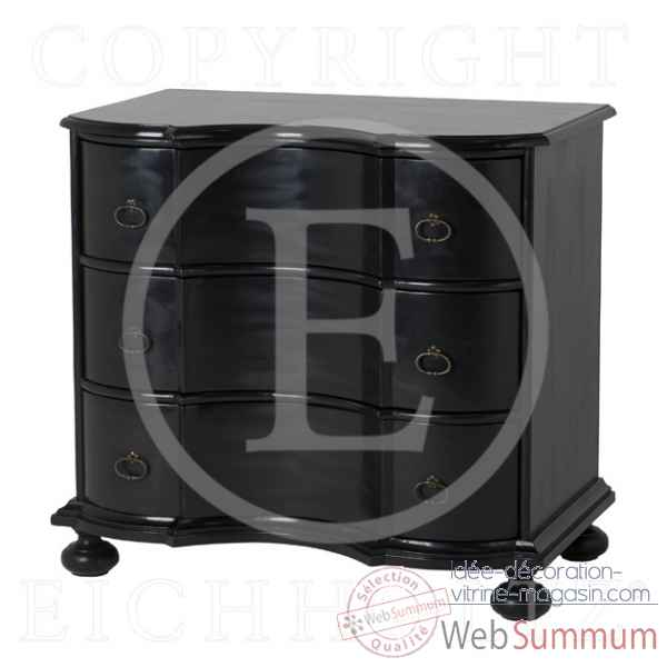 Eichholtz commode boudoir finition noir -cab05616