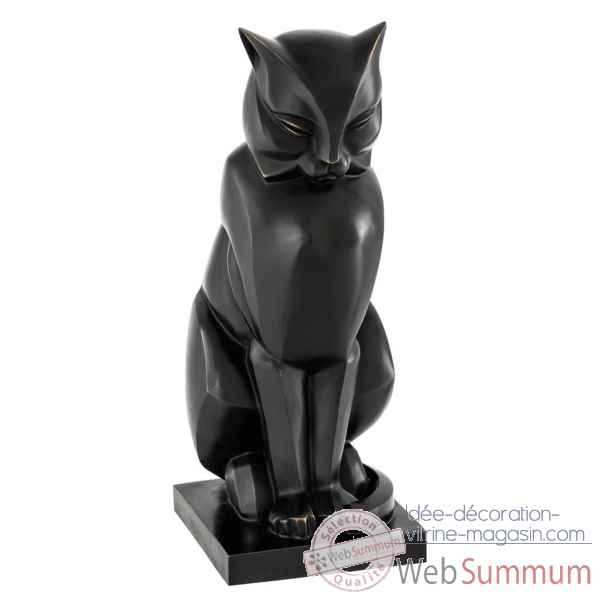Statuette chat art deco eichholtz -110585