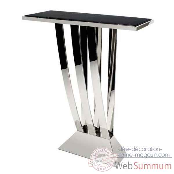 Eichholtz table console beau deco nickel et marbre -tbl06336