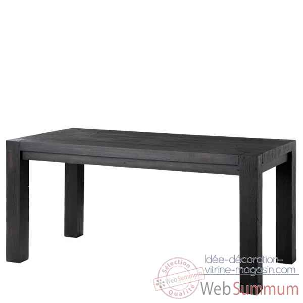 Table harbour club noire 160 cm Eichholtz -TBL07396