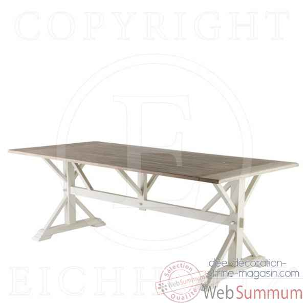Eichholtz table a manger royal chene rustique et blanc -tbl05558