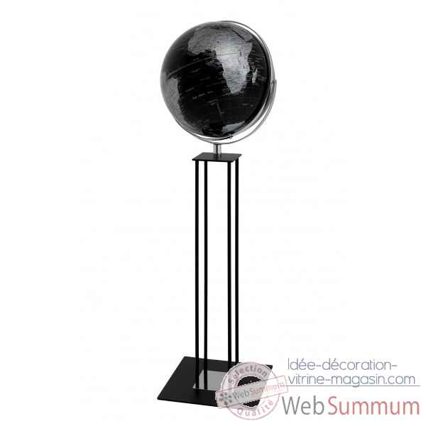 Globe sur pied worldtrophy noir night emform -se-0915