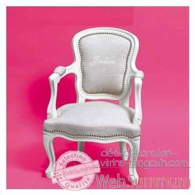 fauteuil louis xv dos rond lin pr nom 004 dans fauteuil enfant personnalis. Black Bedroom Furniture Sets. Home Design Ideas