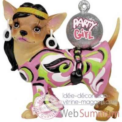 Figurine chien chihuahua Party Girl CHI13696