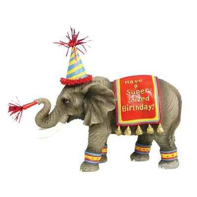 Figurine Elephant Happy Birthday -HP16926